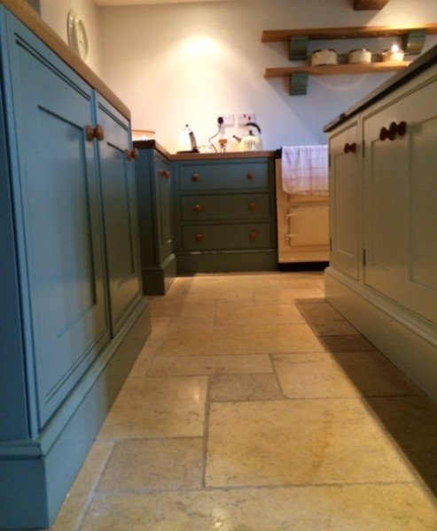 Hand painted kitchen Edgeworth using Fired Earth