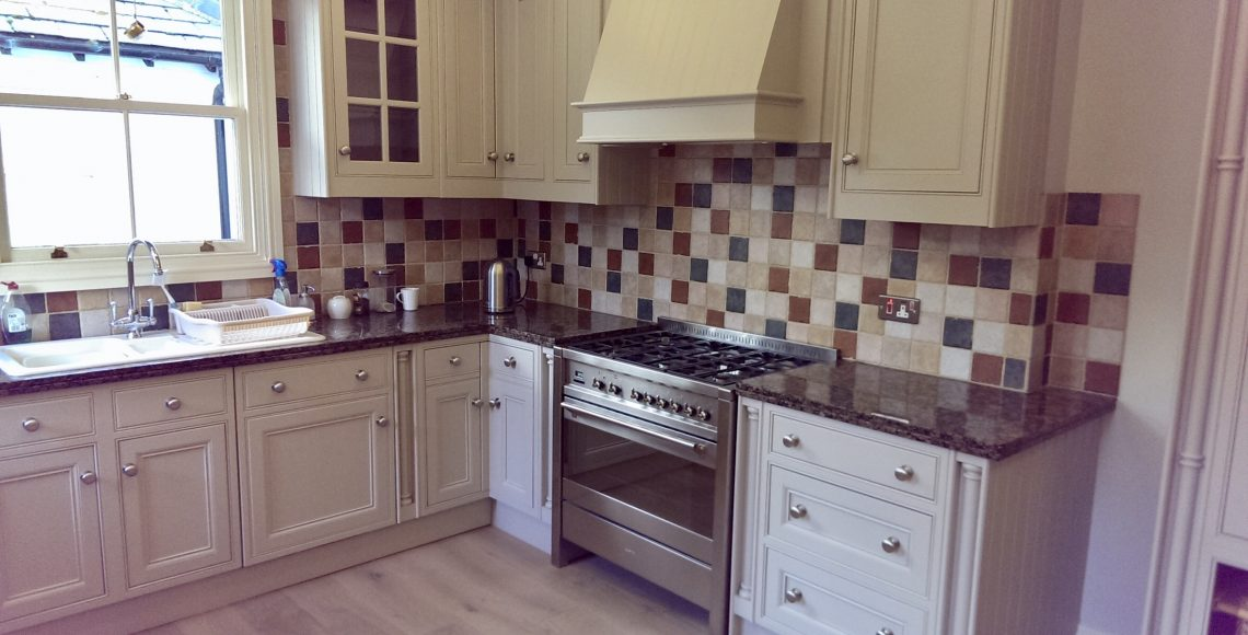painted kitchen in Alderley Edge Cheshire