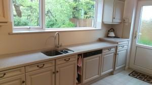 Hand painted & refurbished Oak kitchen