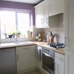 Hand painted veneered kitchen in Clitheroe