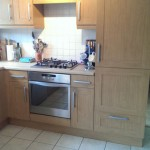Hand painted veneered MDF kitchen in Clitheroe