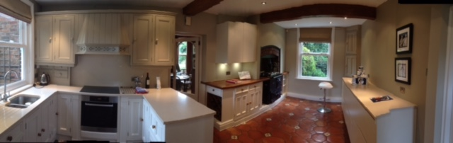 Kitchen hand painted to match Miele units in Wilmslow Cheshire