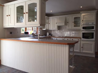 MFI kitchen now hand painted Lancaster