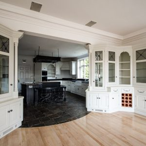 Exquisite hand painted kitchen cabinets in Cheshire, North West