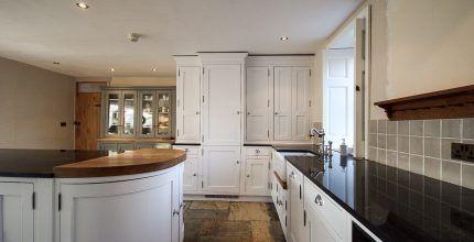 Hand painted kitchen cabinets Mellor Lancashire