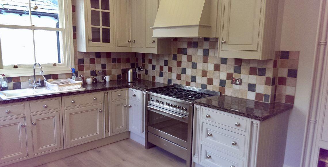 painted kitchen in Alderley Edge Cheshire
