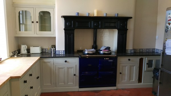Hand painted Laurel Farm kitchen