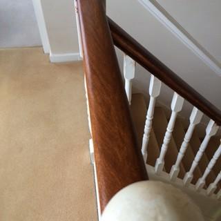 Wood graining a handrail Kutsford