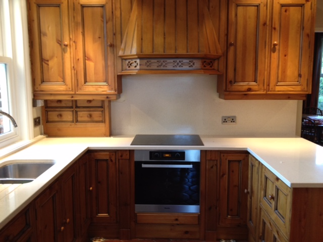 Hand painted kitchen matches Miele units Wilmslow