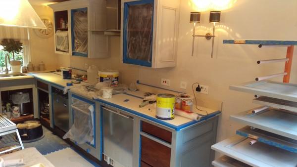 hand painted Chalon kitchen Mobberley Cheshire