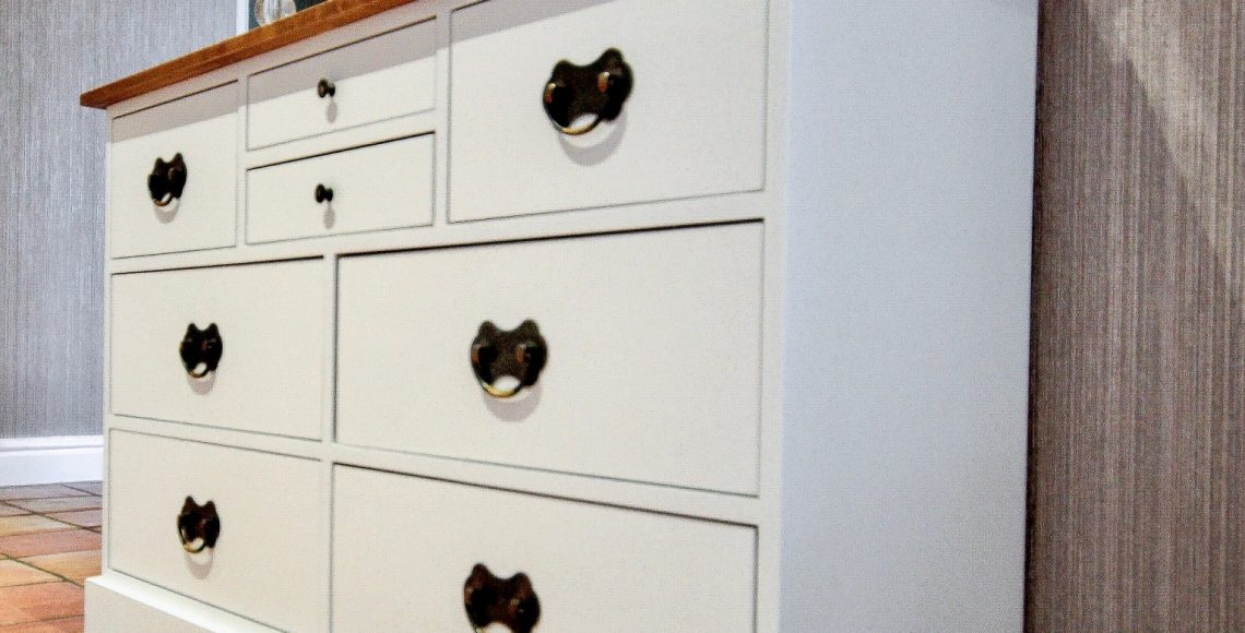 Hand painted mahogany bedroom furniture
