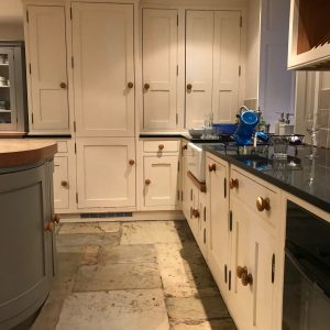 Hand painted kitchen cabinets Mellor Lancashire